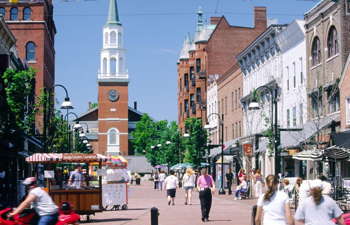 Burlington Vermont Best College Towns