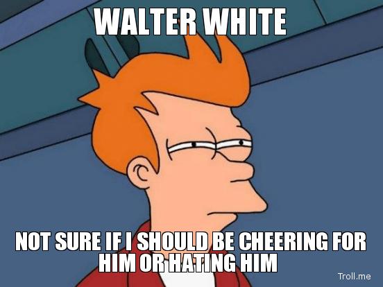 Futurama Fry Walter White meme
