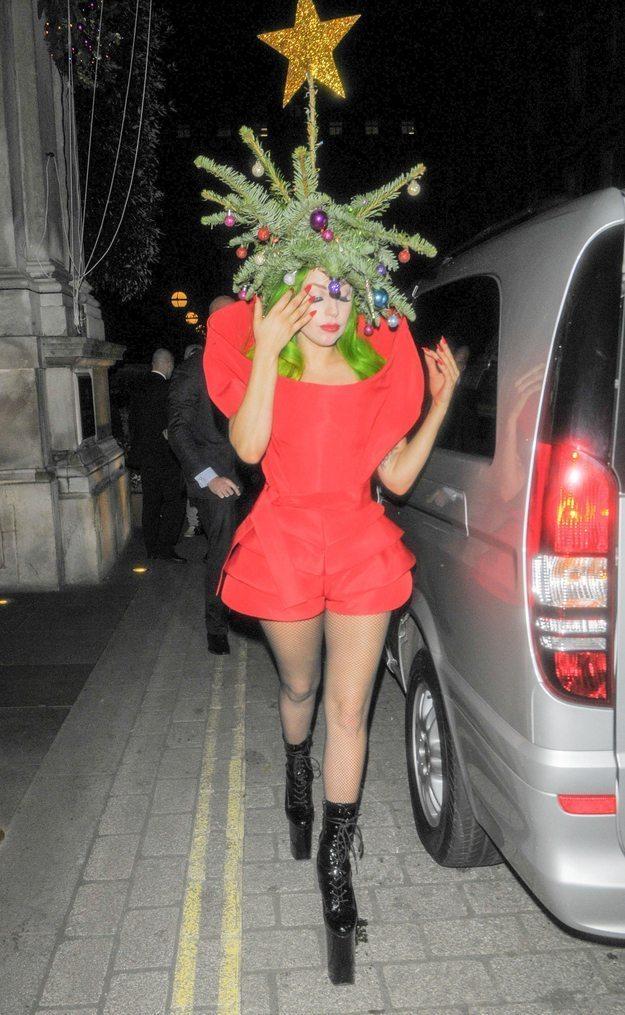 Lady Gaga Christmas Tree Hair