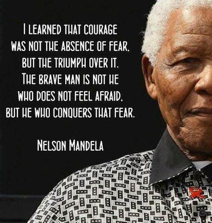 Nelson Mandela Quote fear