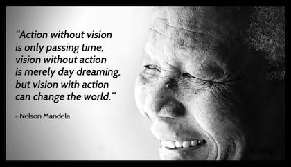 Neslon Mandela Quote action