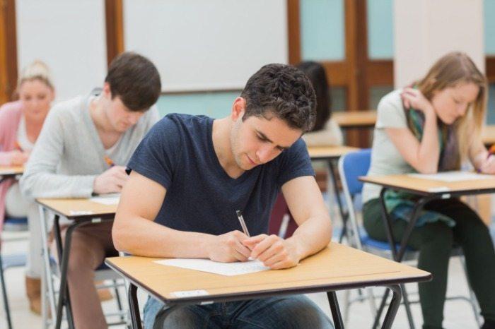 lsat taking an exam