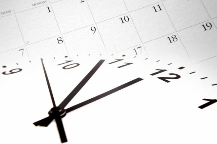 time management clock calendar