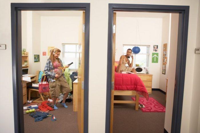 Clean vs Messy Dorm Room
