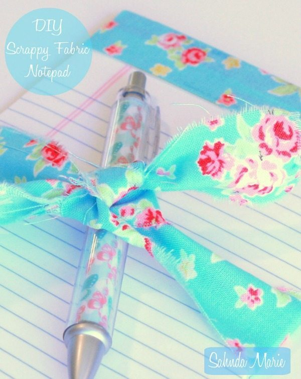 DIY fabric pen and notepad