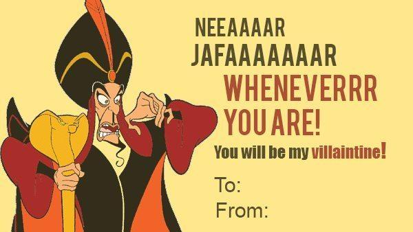 Jafar Villaintine Disney Villain Valentines
