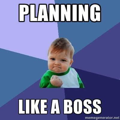 Planning like a boss meme