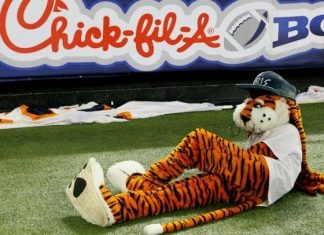 University of Auburn Tigers Aubie Mascot Monday