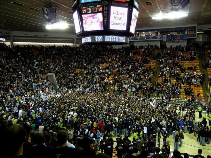 Utah State Aggies Fans - Utah State College Basketball Crowd