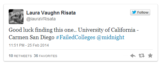 Failed colleges tweets