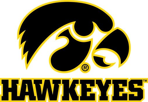 University of Iowa Hawkeyes Logo Mascot Monday