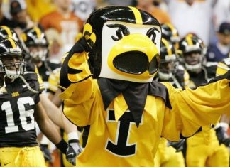 University of Iowa Hawkeyes Mascot Herky Mascot Monday 2