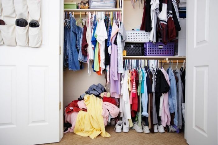 Messy Closet - Spring Cleaning