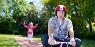 Embarrassing Dad on Bike