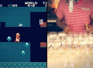 Dan Newbie Super Mario Bros Theme Song Wine Glasses