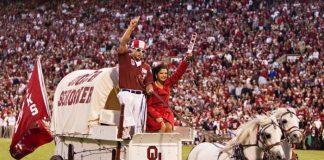 Oklahoma Sooners Mascot - Wagon and Horses - Mascot Monday
