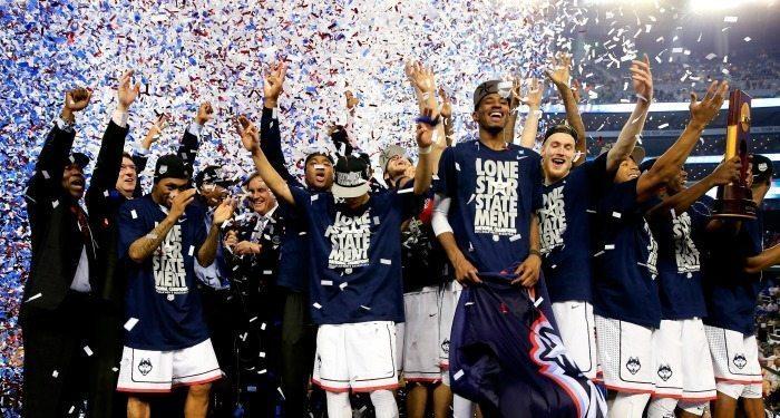 UConn Huskies Celebrate NCAA Tournament 2014 Win
