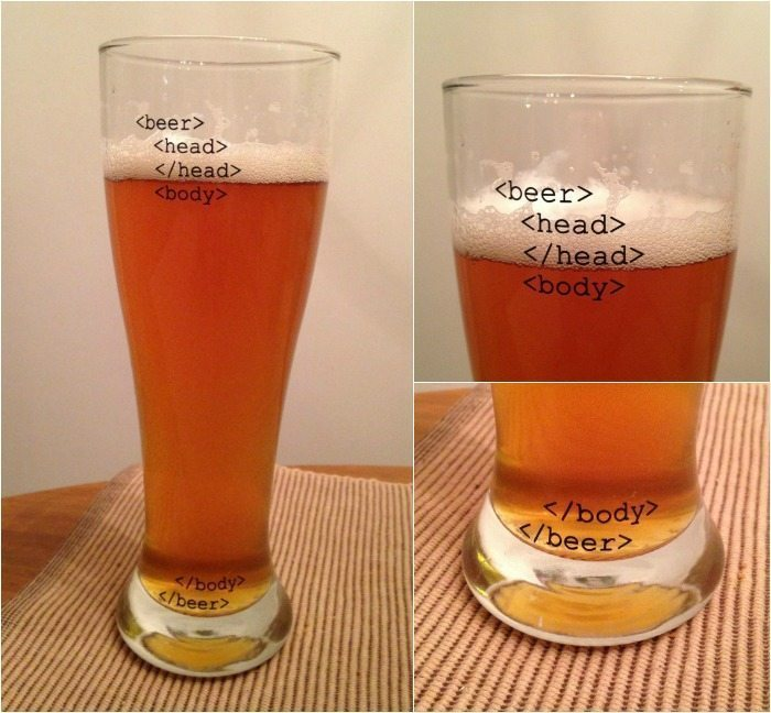 Uncommon Goods HTML Beer Glasses Collage