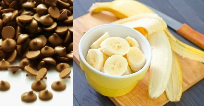 chocolate chips and bananas
