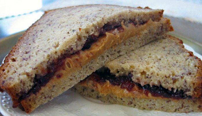 peanut butter banana bread sandwich