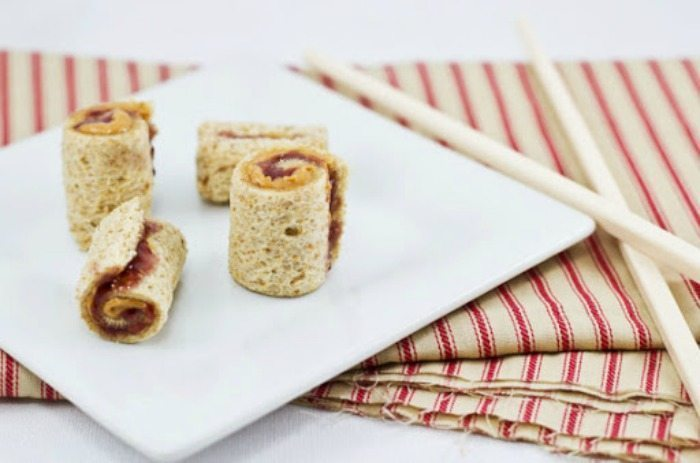 peanut butter jelly sushi