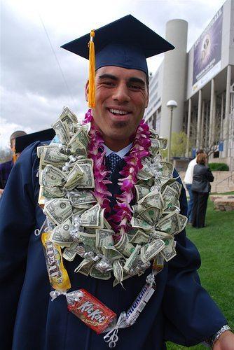 Money Lei DIY Graduation Gift