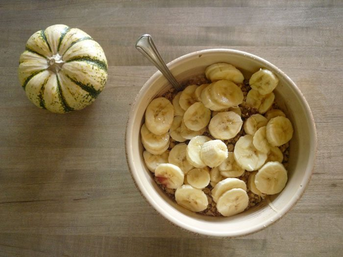 bananas and honey