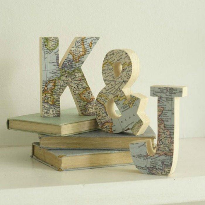 letters maps DIY