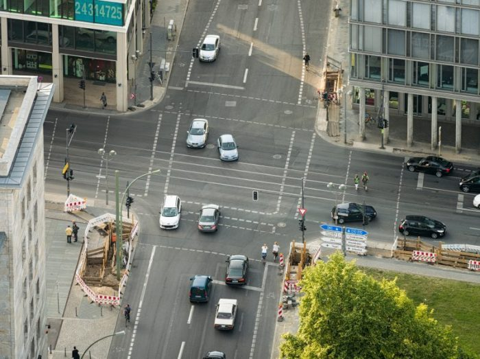 Aerial View of Berlin Intersection