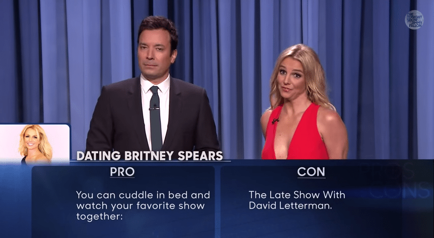 pros and cons of dating britney spears youtube Related jimmy fallon and britney spears dissect the pros and cons of datingbritney spears the evolution of justin timberlake, thespian here's what britney spears thought about the katy perry and riff raff denim homage at last night's mtv vmas.
