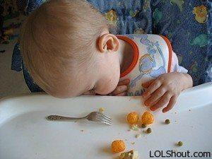 falling asleep while eating
