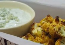 Buffalo Cauliflower & Blue Cheese Dip