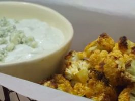 Buffalo Cauliflower & Blue Cheese Dip