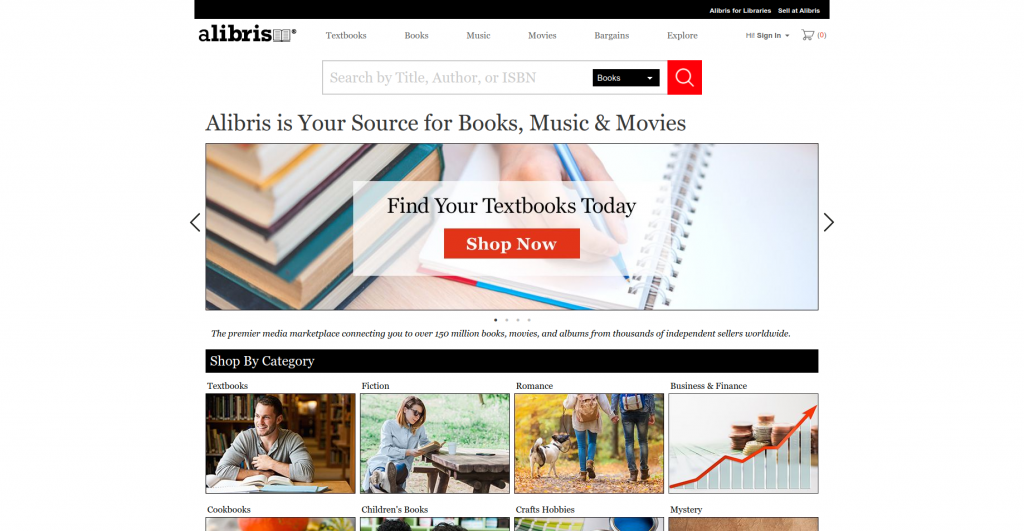 alibris best sites to buy college textbooks homepage