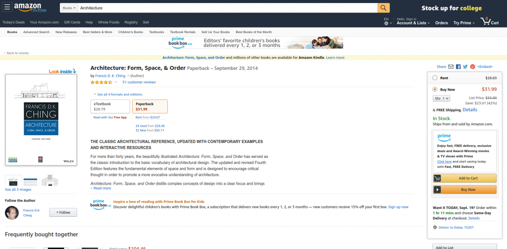 amazon book rentals college textbooks example