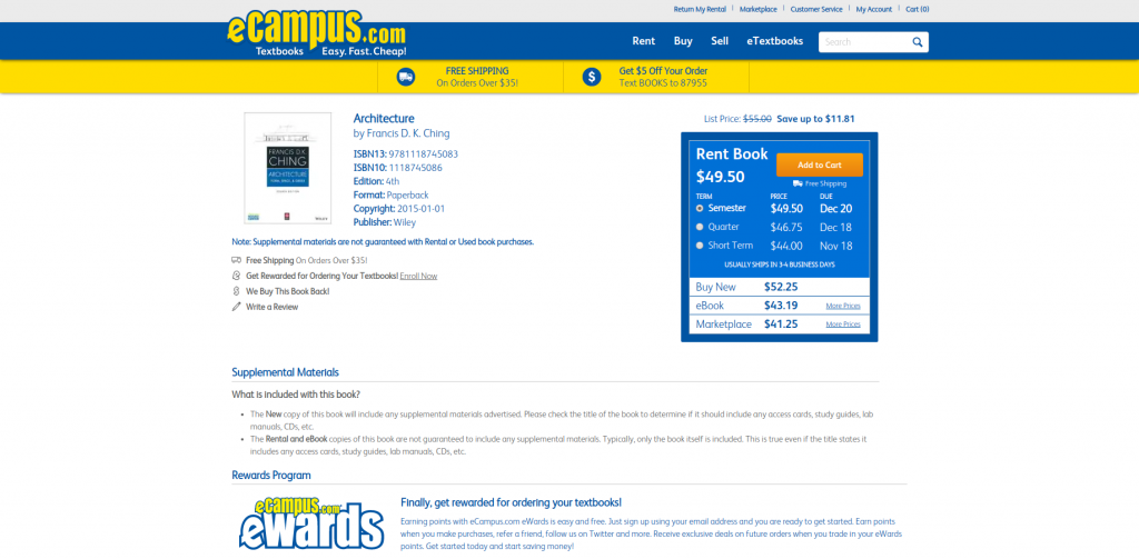 ecampus where to buy cheap textbooks example