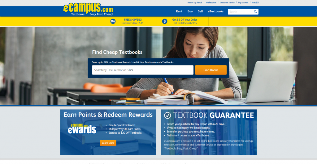 find textbooks online ecampus homepage
