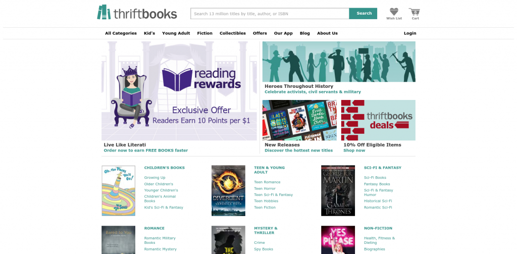 thrifbooks buy used college books homepage